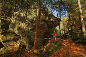 rock formation at High Rock Hideaways in Hocking Hills