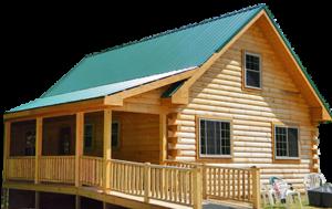 log cabin in Hocking Hills