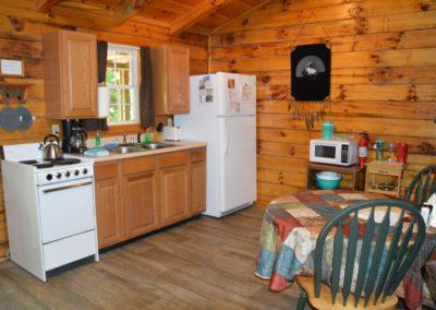 kitchen in The Lakota Cabin