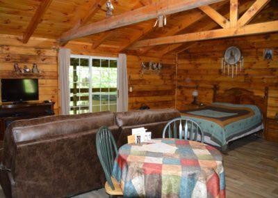 living area in The Lakota Cabin