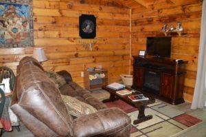 entertainment area in The Lakota Cabin