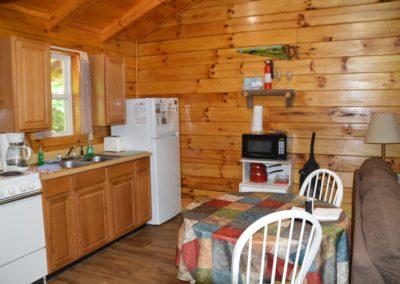 kitchen area in Trail Ridge cabin in Hocking Hills