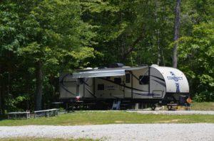 RV camper at High Rock Hideaways in Hocking Hills