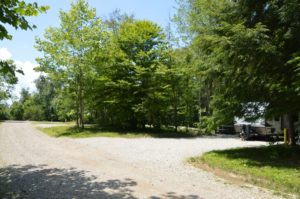 campsite at High Rock Hideaways in Hocking Hills